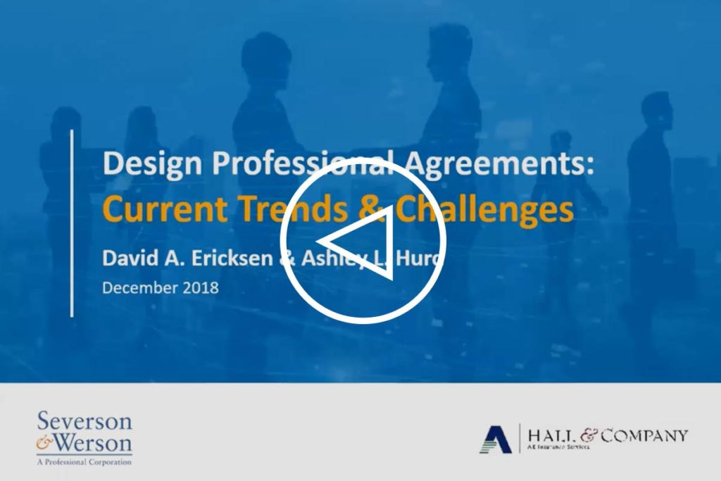 Design Professional Agreements: Current Trends & Challenges