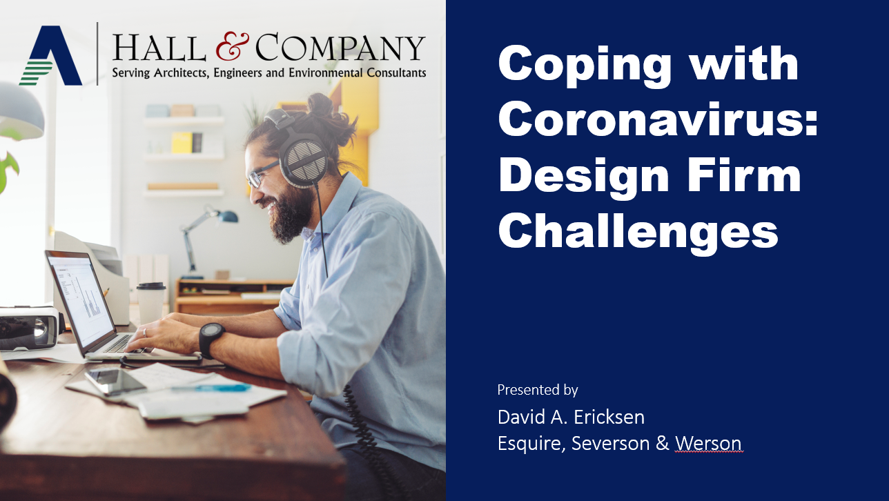 Coping with Coronavirus: Design Firm Challenges